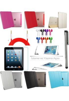 Deni iPad Mini 1/2/3 (1.2.3. Nesil) Smart Case Tablet Kılıf + 9H Kırılmaz Cam + Kalem + Aux Kablo + Kulaklık