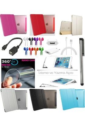 Deni iPad Mini 4 (4. Nesil) Smart Case Tablet Kılıf + Nano Ekran Koruyucu + Kalem + Otg + Kulaklık + Şarj Seti