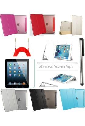 Deni iPad Mini 4 (4. Nesil) Smart Case Tablet Kılıf + 9H Kırılmaz Cam + Kalem + Aux Kablo