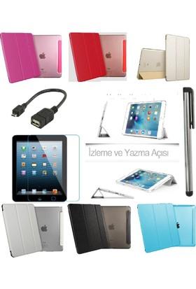 Deni iPad Air 1 (1.Nesil) Smart Case Tablet Kılıf + 9H Kırılmaz Cam + Kalem + Otg