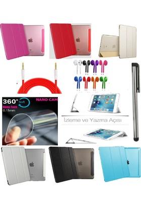 Deni iPad Air 1 (1.Nesil) Smart Case Tablet Kılıf + Nano Ekran Koruyucu + Kalem + Aux Kablo + Kulaklık
