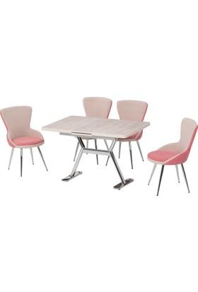 Azzore Yeni Ürün - Antik Beyaz Mutfak Masası Takımı