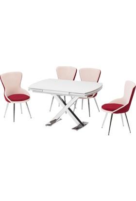 Azzore Yeni !!! Mermer Desenli Masa Sandalye Takımı