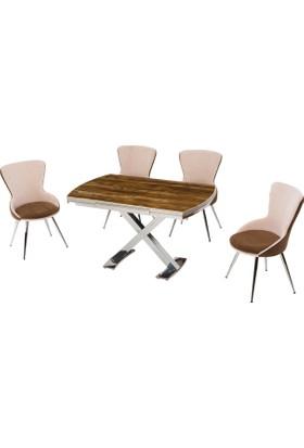 Azzore En 932 Ahşap Masa Sandalye Takım