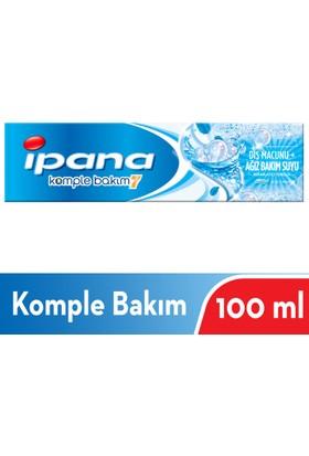 İpana Komple Bakım Diş Macunu + Ağız Bakım Suyu Ferahlatıcı Temizlik Güçlü Nane 100 ml