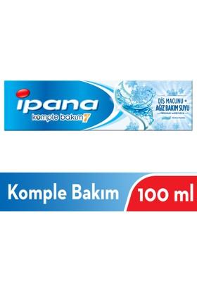 İpana Komple Bakım Diş Macunu + Ağız Bakım Suyu Ferahlık ve Beyazlık Ferah Nane 100 ml