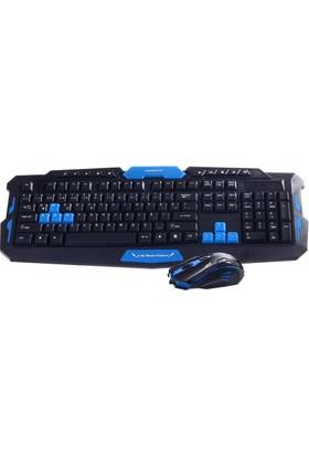Powerstor HK8100 Kablosuz Multimedia Oyun Oyuncu Klavye Mouse Set