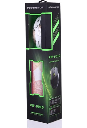 Powerstor PW6010 USB Oyuncu Gaming + Mouse Pad