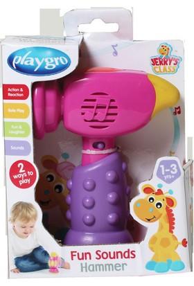 Playgro Komik Sesler Çekiç Pembe 7732
