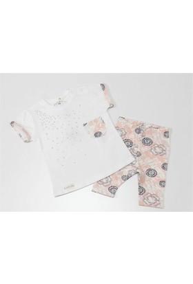 Peri Masalı Taşlı Kız Bebek Takımı Beyaz