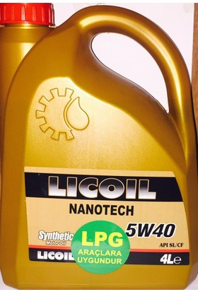 Licoil Tam Sentetik Nanotech Lpg 5W40 4Lt