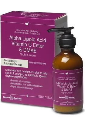 Janson Beckett Alpha Lipoic Acid Gece Kremi Vitamin C & Dmae