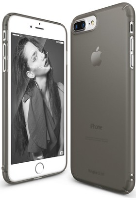 Ringke Slim Frost iPhone 7 Plus Kılıf Black - 4 Tarafı Saran Tam Koruma İnce Buzlu Şeffaf