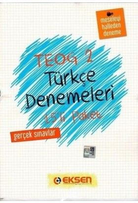 Eksen Yayıncılık Teog 2 Türkçe Denemeleri 15'Li Paket