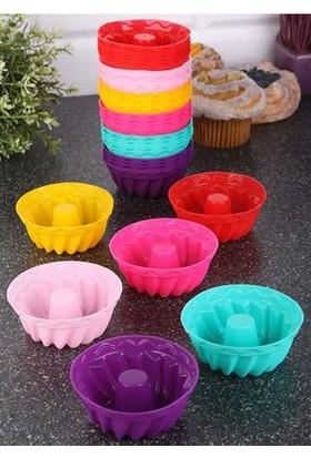 Menba Mini Silikon Muffin Ve Cup Kek Kalıbı Borulu - 6 Adet