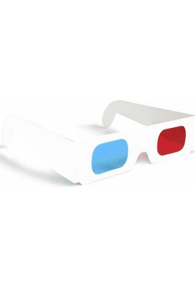 Direkstoktan Kağıt Gözlük Kağıt 3D Gözlük Red Cyan