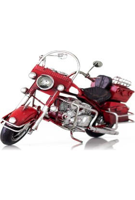 Direkstoktan El Yapımı Harley Davidson Metal Motosiklet 20 Cm