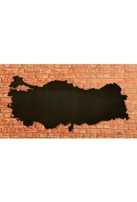 Tasarimaksesuar Metal Duvar Dekoru Türkiye Haritası
