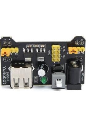 Güvenrob DELİKLİ BREADBOARD 830 + 65'Lİ JUMPER KABLO SETİ + POWER MODÜLÜ