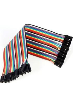 Güvenrob Dişi - Dişi Bağlantı Kablosu - 1 Adet - 20 cm Dupont Kablo