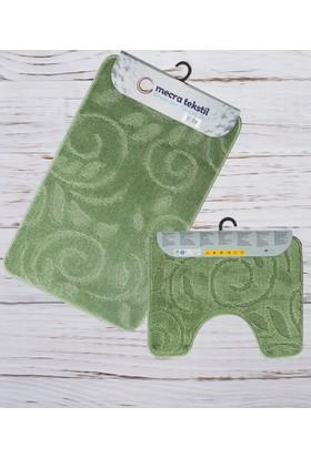 Koza Halı Banyo Seti 2'Li Klozet Takımı Yeşil