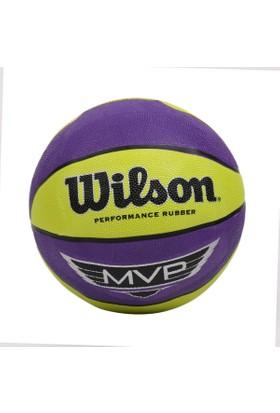 Wilson MVP 295 Basketbol Topu Size: 6 Pur/Lime (WTB9067XB)