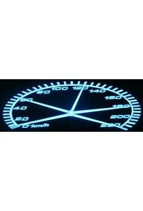 Asa Işıklı Araba Sticker Carqualizer Hız Göstergesi