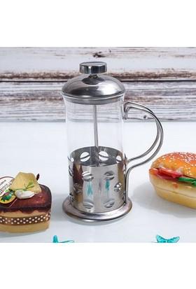 Selio French Press Bitki Çayı Filtre Kahve Demleme Demliği