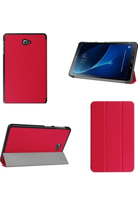 Akıllıphone Galaxy Tab A 10.1 (2016) T580 Gizli Mıknatıslı Standlı Ultra İnce Deri Kılıf