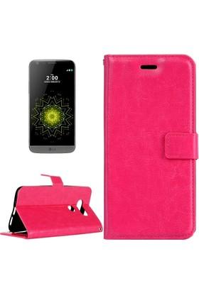 Akıllıphone Lg G5 Standlı Kart Bolmeli Cüzdan Kılıf