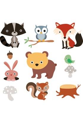 Sticker Masters Orman Hayvanları Çocuk Odası Sticker