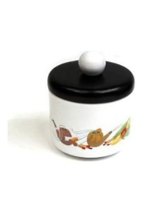 Brebbia Tütün Kavanozu Beyaz