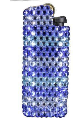 Zirkon Elements Taşlı Çakmak Kılıf Deep Blue