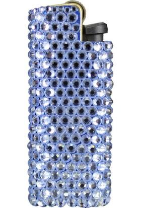 Zirkon Elements Taşlı Çakmak Kılıf Blue