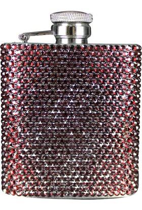 Zirkon Elements Taşlı Kaplı Matara Dark Red