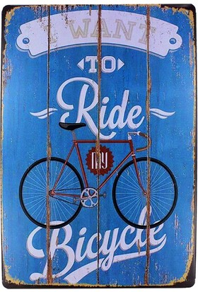 T-Bek Dekoratif Vintage Metal Pano Ride Bycle 20X30