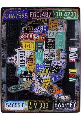 T-Bek Vintage Metal Pano U.S.A 30X40