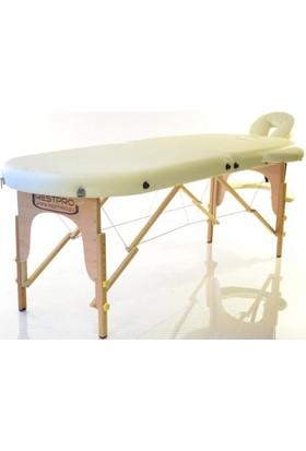 Restpro Classic 2 Oval Krem Katlanabilir Masaj Masası