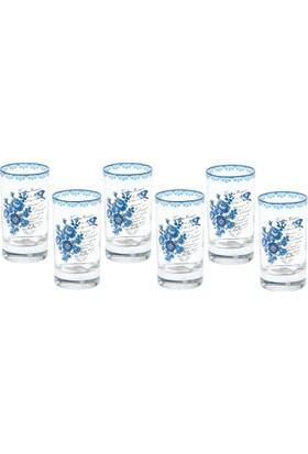 Biev Blue 6Lı Kahve Su Bardağı