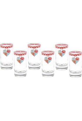 Biev Patchwork 6Lı Kahve Su Bardağı