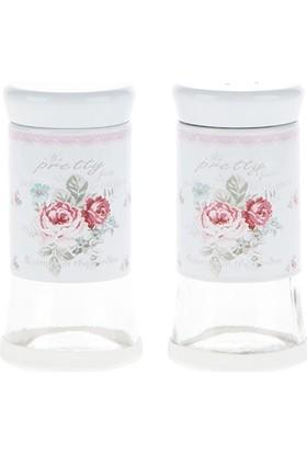 Biev Pretty Rose Tuzluk Biberlik Seti 115 ml