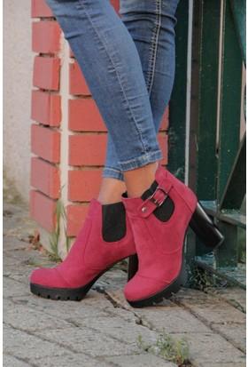 Shoes Time 16K 937-3 Kadın Süet Bot
