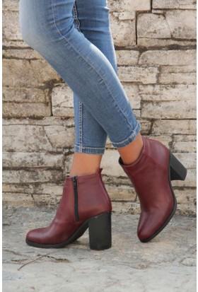 Shoes Time 16K 8111 Kadın Deri Bot