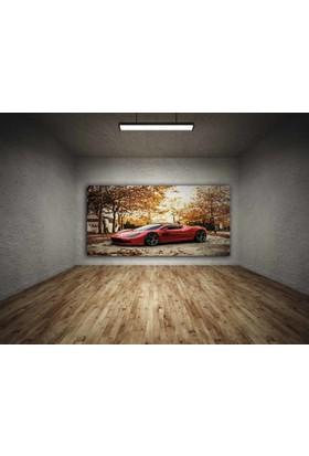Rumeli Tablo Aston Martin Kırmızı Led Işıklı Kanvas Tablo