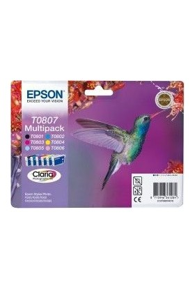 Epson T0807 CMYK Kartuş