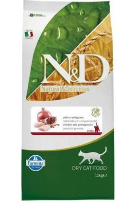 N&D Tahılsız Tavuk Nar Kısırlaştırılmış Kedi Maması 10 Kg
