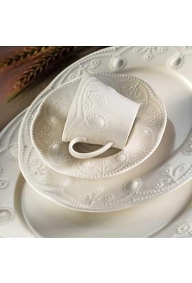Kütahya Porselen Mitterteich Fulya Krem Porselen 6 Kişilik 24 Parça Yemek Takımı