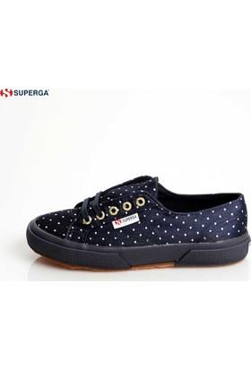 Superga Kız Çocuk Ayakkabı Lacivert 2750-DOTSSATINJ