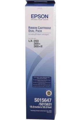 Epson S015647 (8750) Lx-300/350/400/800/850/Mx/Rx/F Siyah İkili Paket Şerit