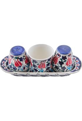 Quartz Ceramics El Yapımı Seramik Tuzluk Takımı